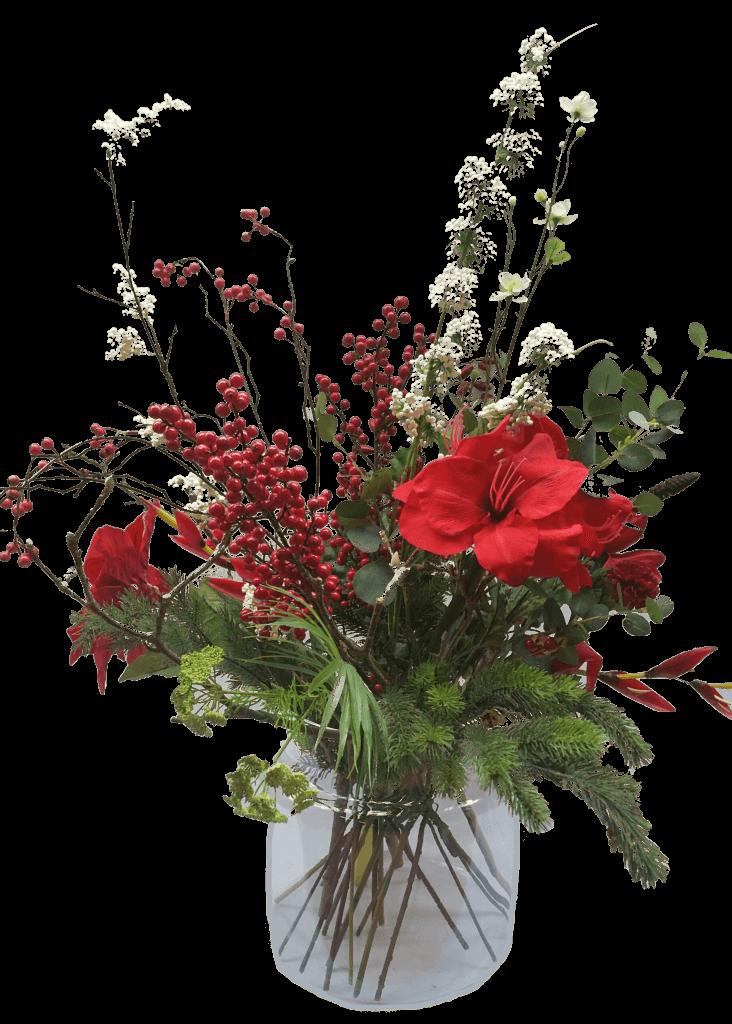 Zijden boeket kunst met bloemen